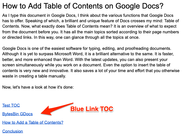 TOC with Blue Link Added