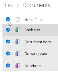 Tap and hold the file or entire folder you want to delete
