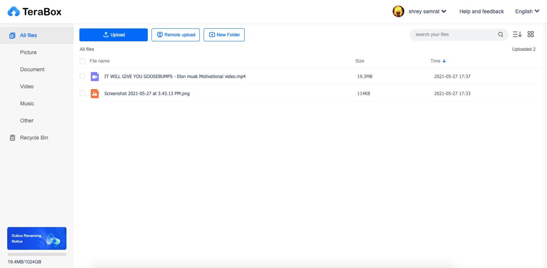 TeraBox_Interface
