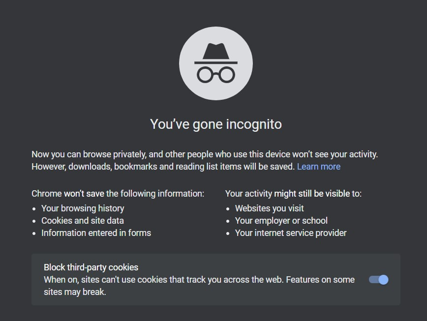 Try incognito