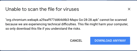 Unable to Scan the File for Viruses