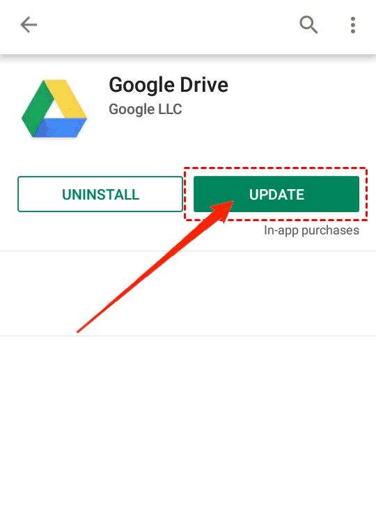 Update Google Drive