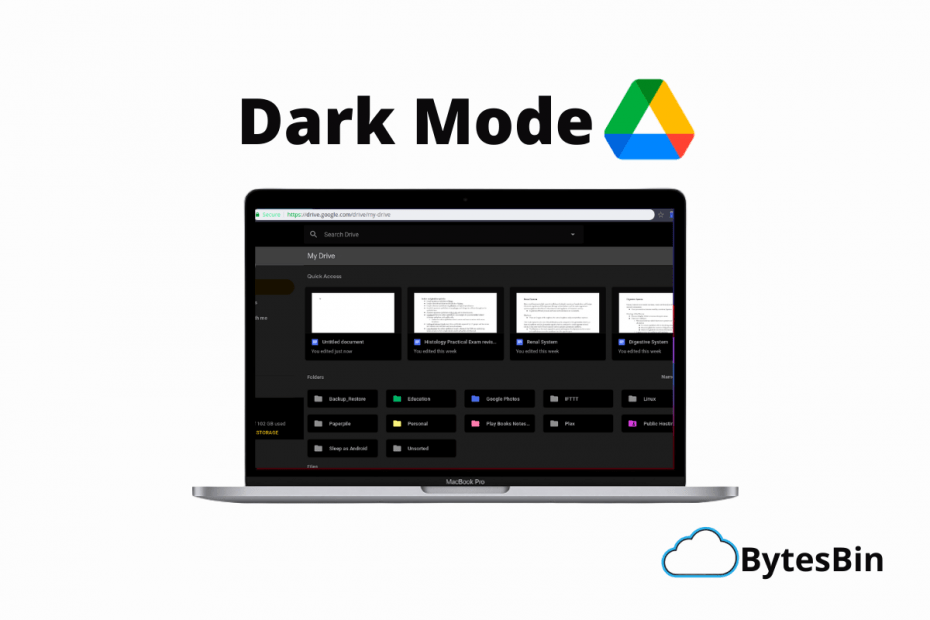 Use Dark Mode Google Drive Site Desktop PC