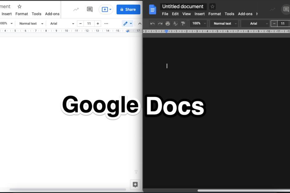 Use Dark Mode Google Docs on Desktop Chrome Browser