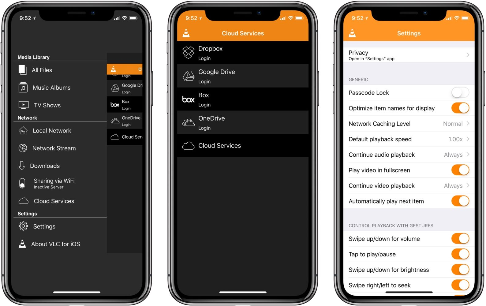 VLC Player iPhone Google Drive Stream Support