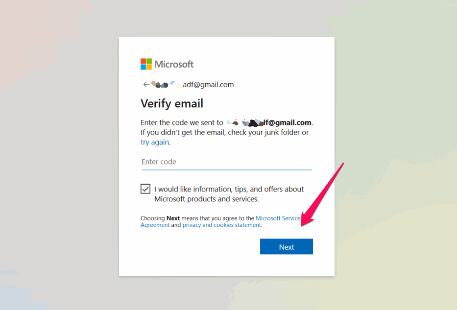 Verify Email with Code