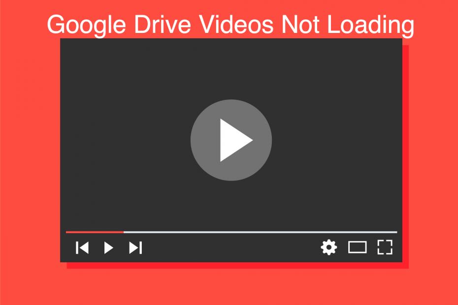 Videos Not Working Google Drive