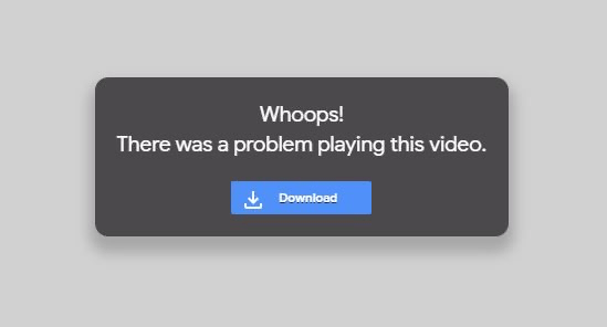 Whoops! There was a problem playing this video