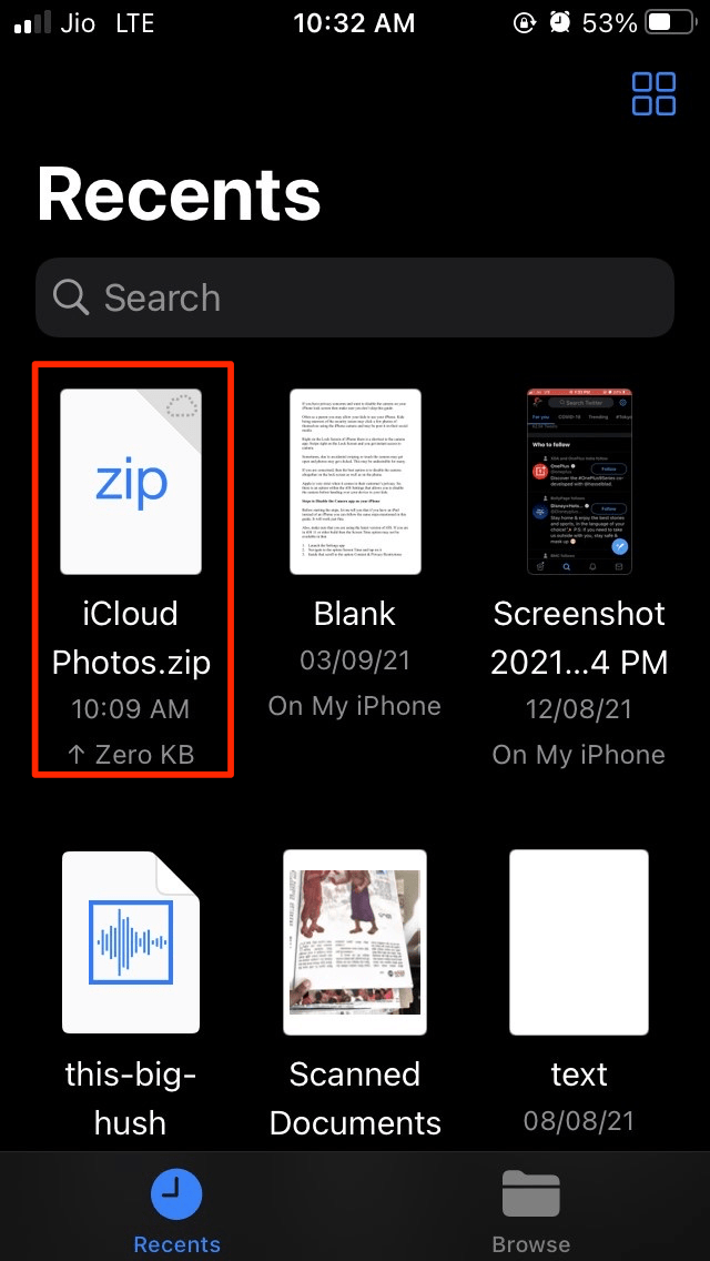 You_will_see_the_iCloud_Photos_zip_file_under_the_Recent_files_tab