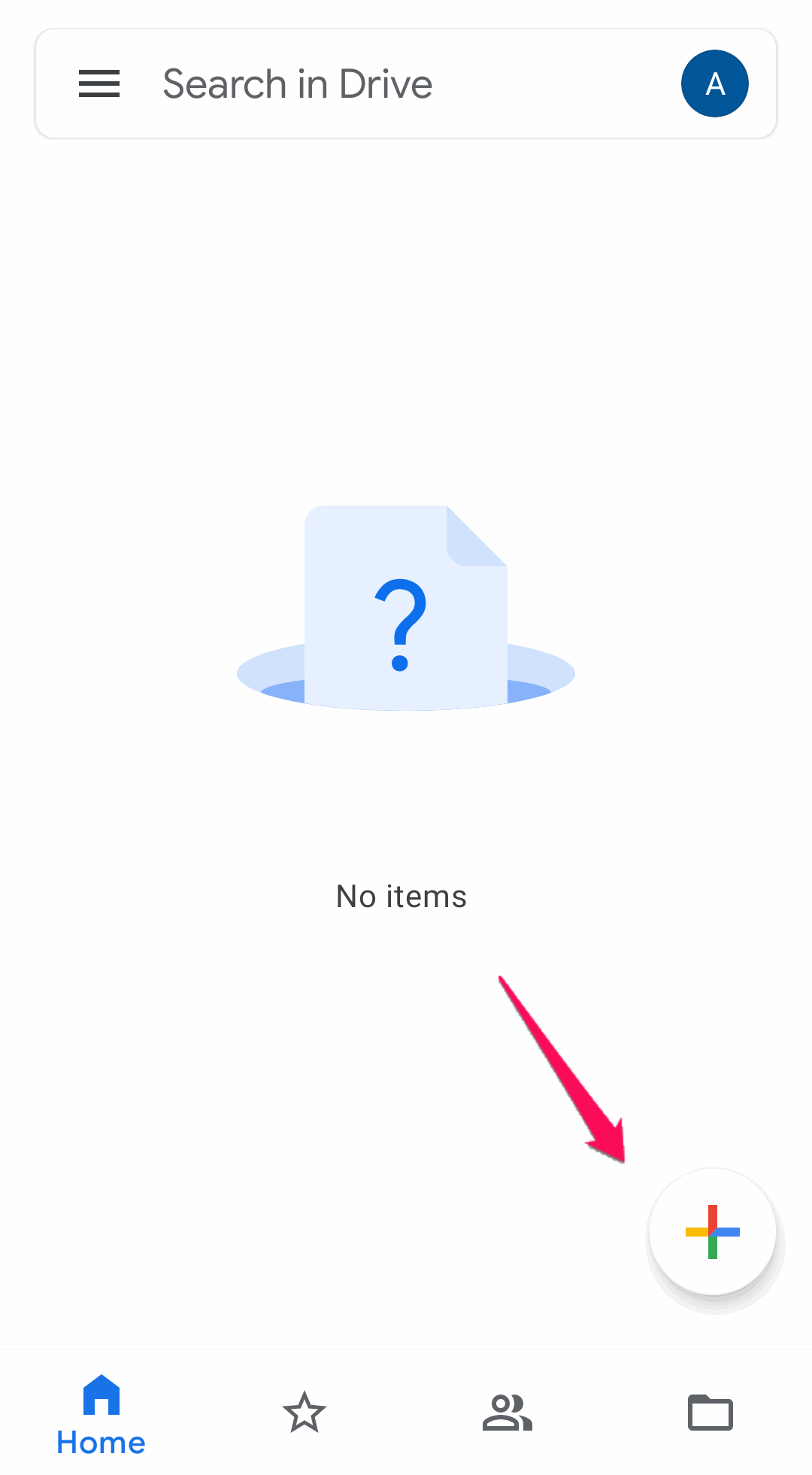 click + icon to upload files