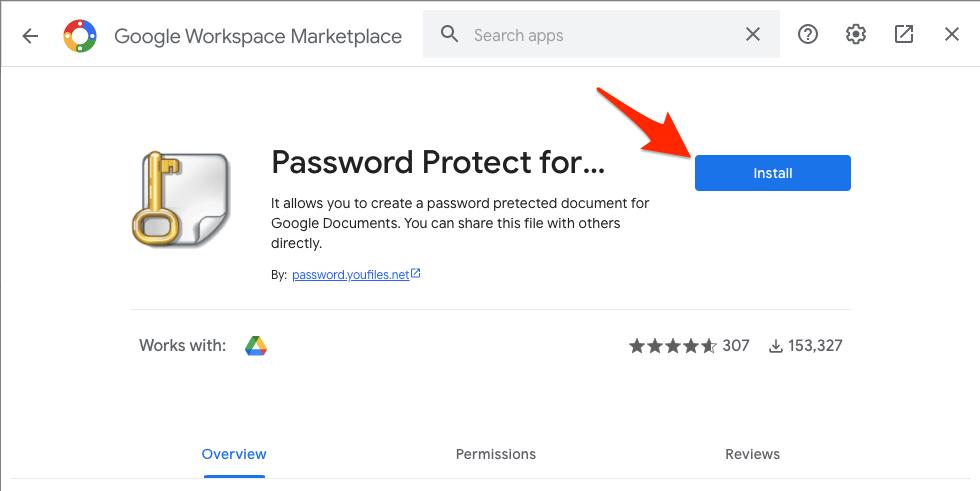password-protected Google Documents